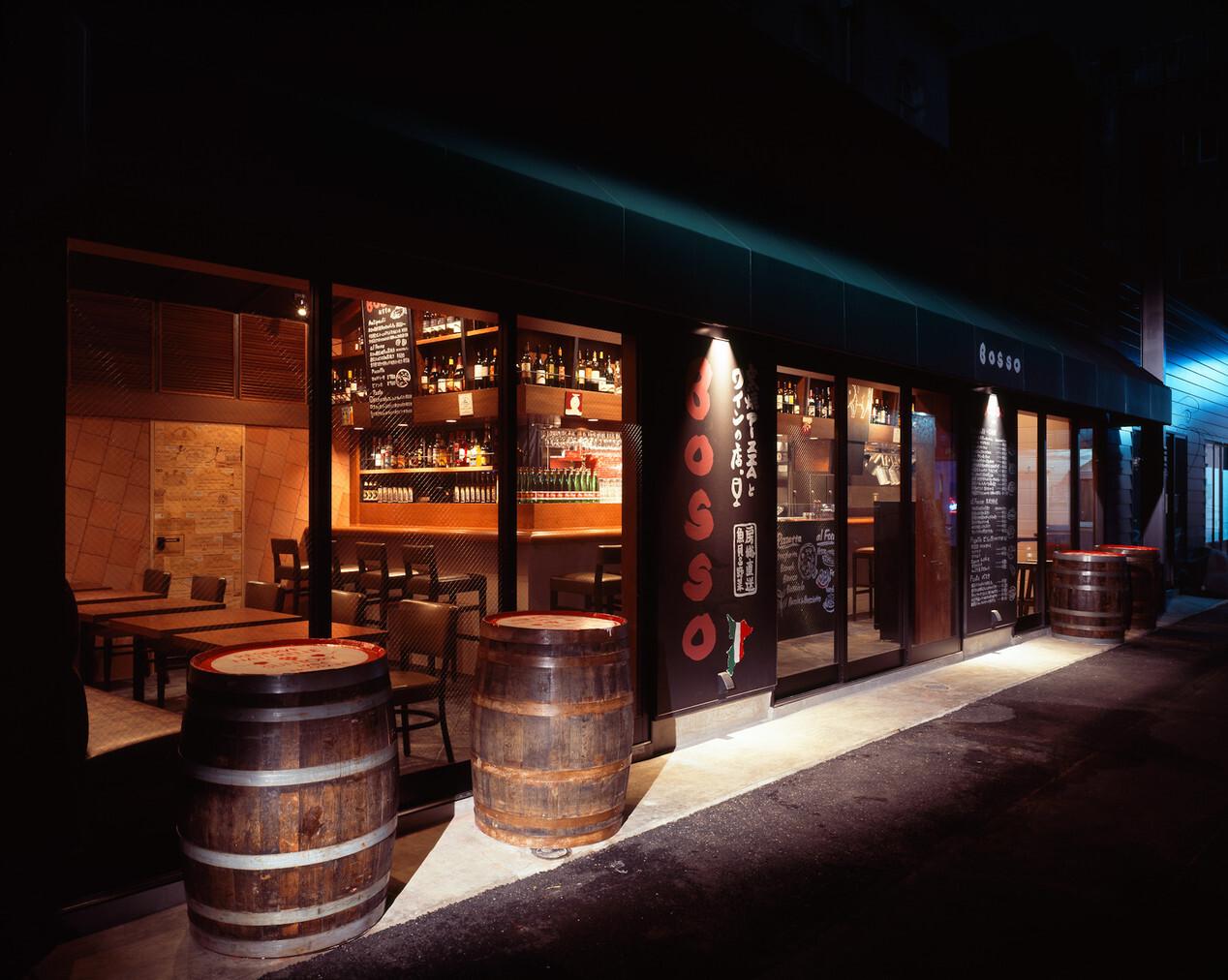 窯焼PIZZAとワインの店 BOSSO 八重洲店の内装