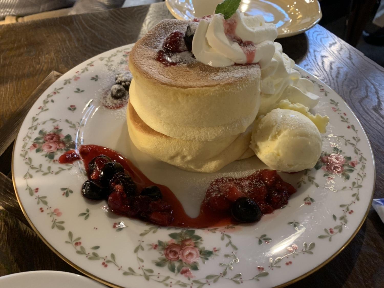 イリヤプラスカフェのパンケーキ