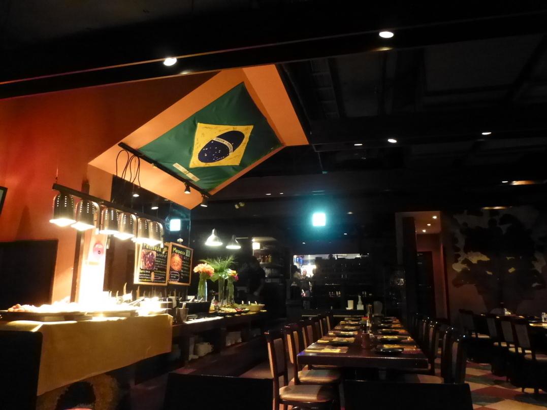 ブラジリアンな雰囲気の店内