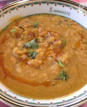 インド豆フライカレー