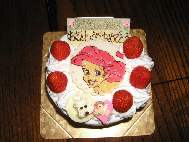 ケーキに描かれたアリエル